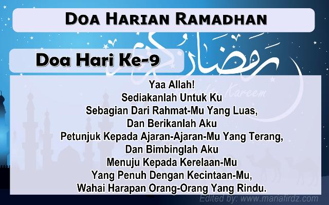 Doa Harian Bulan Ramadhan | Doa Hari Ke-9