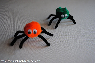 Halloween craft spiders