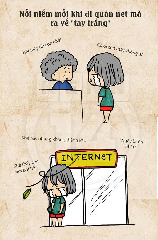 Truyện tranh hài thời chat chit tiệm net 1