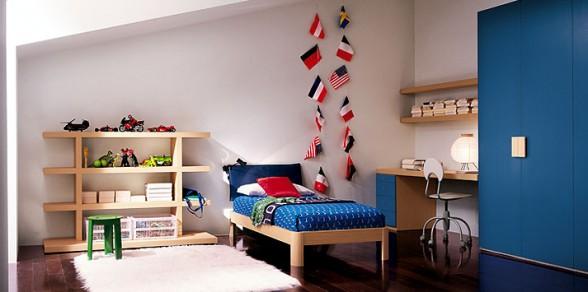 Así que produce una combinación de colores hermosos e interesantes. Echa un vistazo a esta sala de estudio para los adolescentes por Clever.