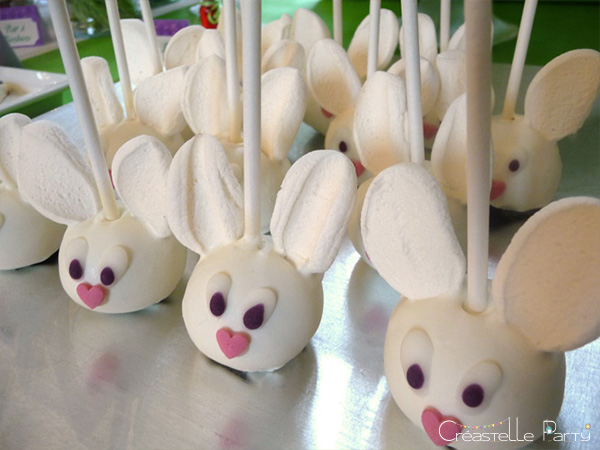 Alice in Wonderland white rabbit cake pops