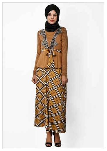 Trend Model Baju Muslim Wanita Kombinasi Terpopuler 2016