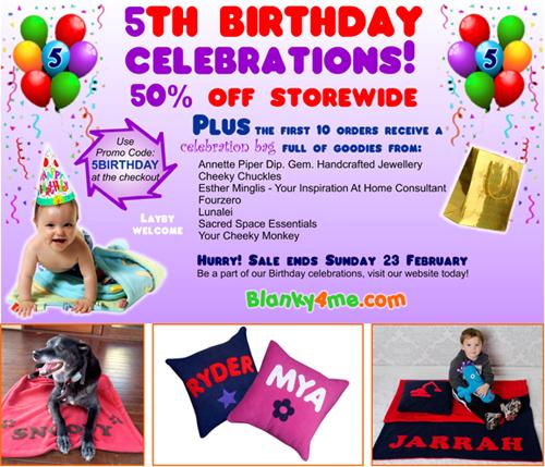50% off storewide +