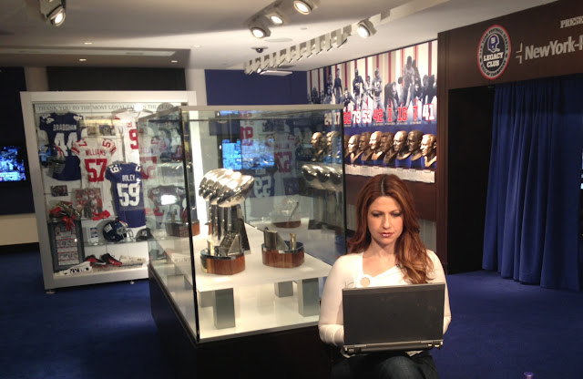 ESPN's Rachel Nichols in Giants Legacy Room