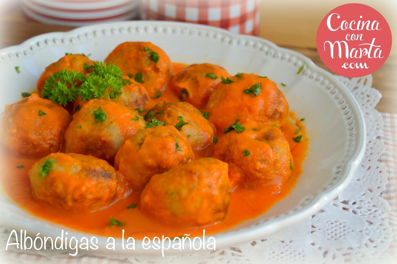 Receta casera albóndigas en salsa española, olla gm, cocina con marta, fácil, rápido, ligeras, comprar olla gm