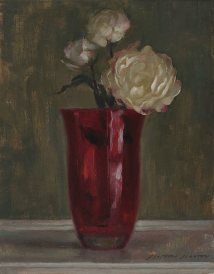 Best-jzaperoilpaintings-Flowers-With-Red-Vase-Oil-Paintings-Image