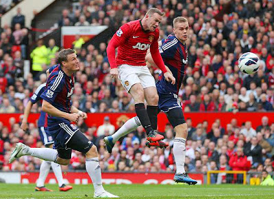 Wayne Rooney Manchester United vs Stoke City 2013