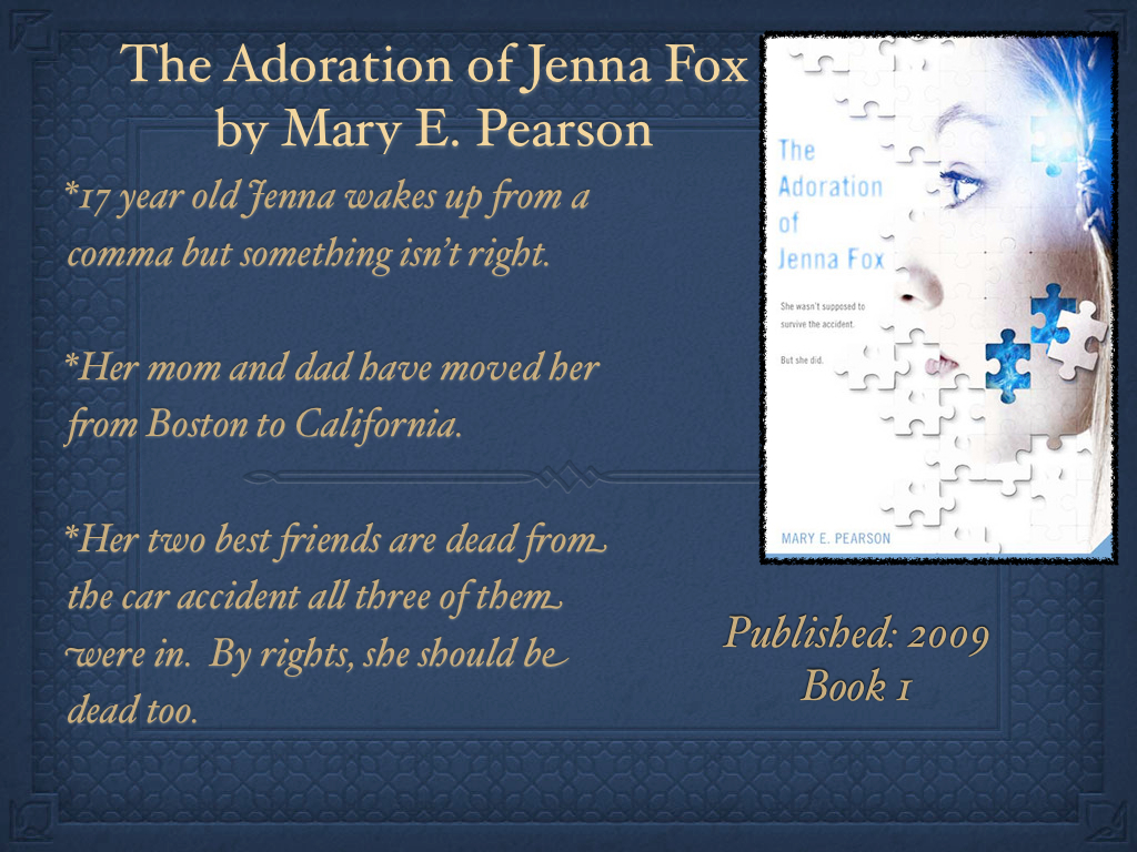 how the adoration of jenna fox essay The adoration of jenna fox the adoration of jenna fox, written by mary e pearson, is a compelling story about a seventeen year old girl who has just woken.