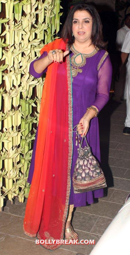 Farah Khan - (16) - Amitabh Bachchan Diwali Bash Photos