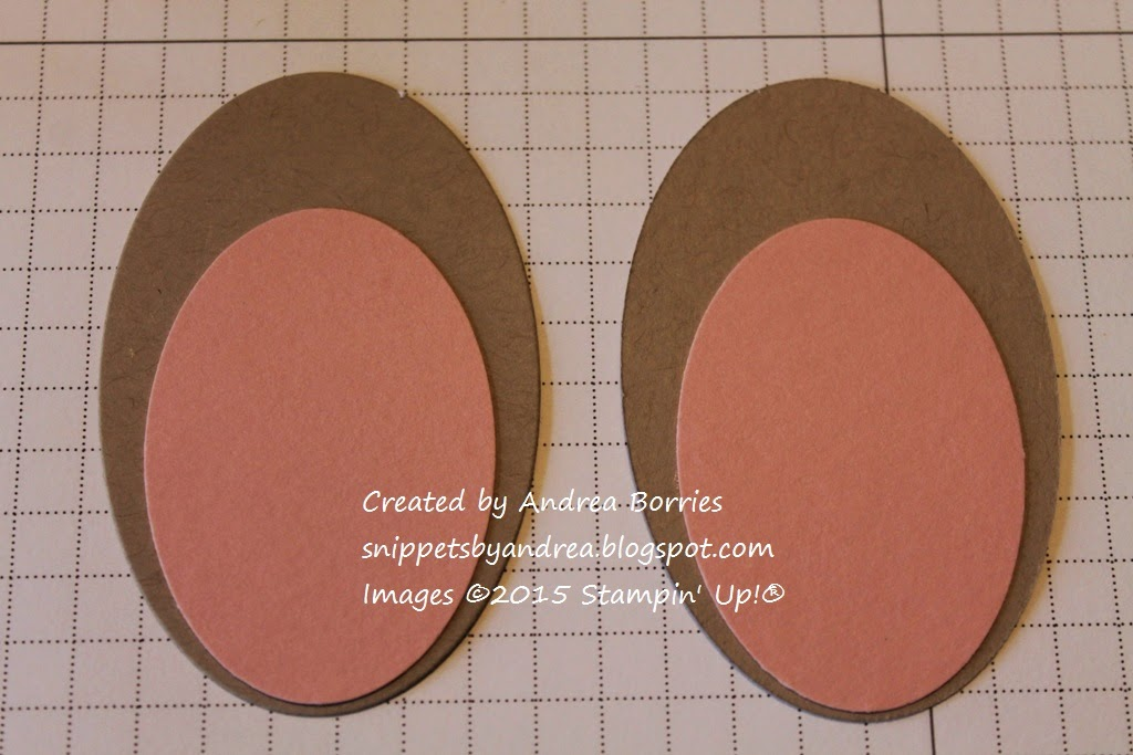 Bunny Basket Step 6. Use the Ovals Collection Framelits dies ad extra-large oval punch to make the ears.