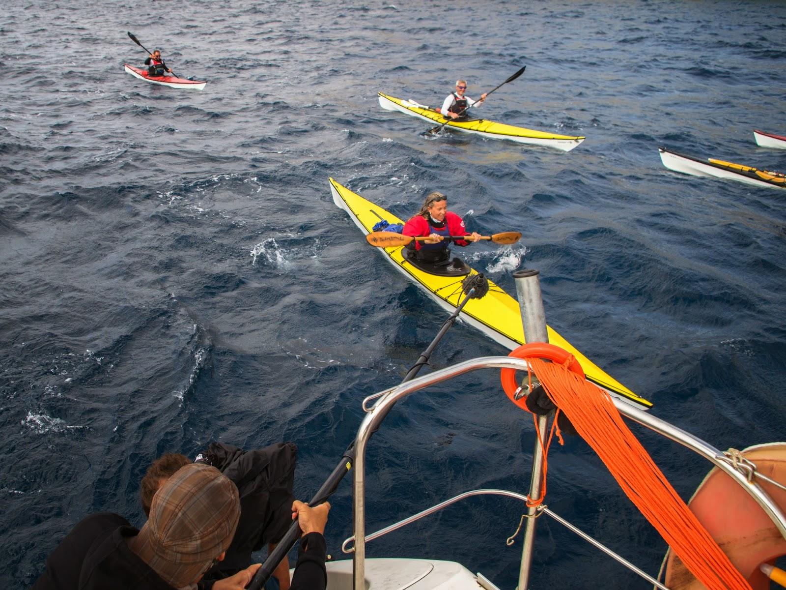 Tournage des scenes de kayak de mer pour Thalassa autour de Porquerolles