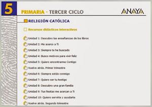 RECURSOS EDUCACIÓN RELIGIOSA