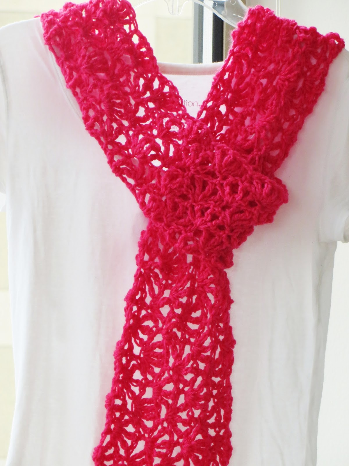 Crochet Scarf Pattern With Pictures : Crochet Dreamz: Alana Lacy Scarf, Free Crochet Pattern