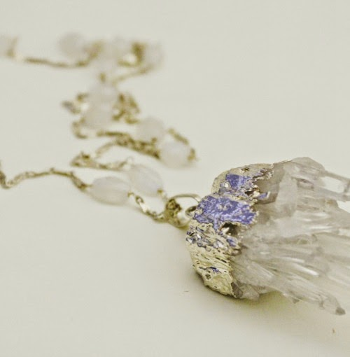 crystal statement necklace / catherine masi