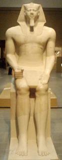 تمثال منكاورع فى متحف لندن