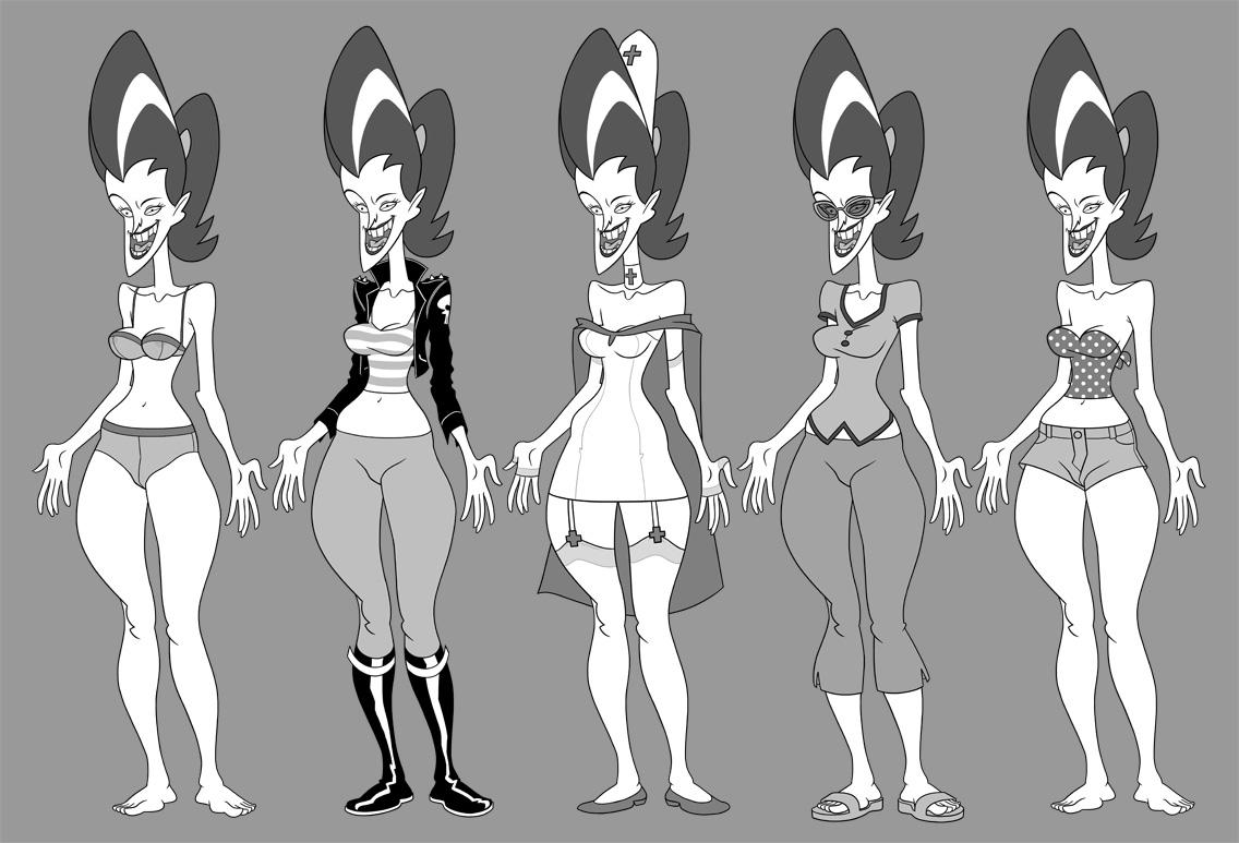 Character Design Evolution : Citizen tang red volution
