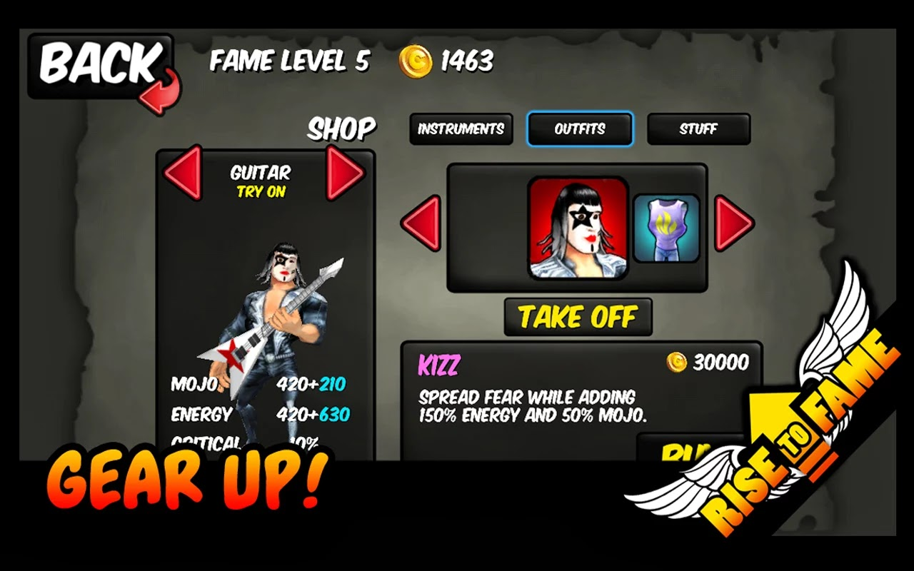 Screenshot Rise To Fame Android