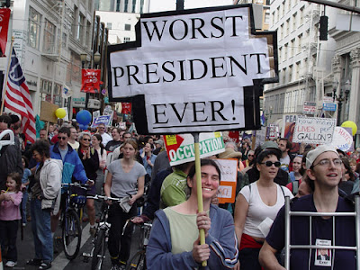 A 2004 protest march against the invasion of Iraq