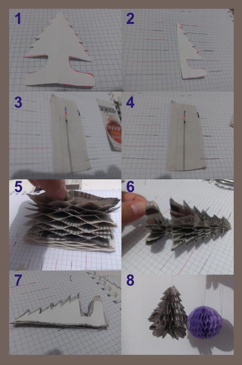 Árbol de papel de periódico