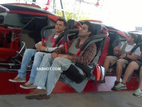 Aamir Abhishek enjoying ride Chicago
