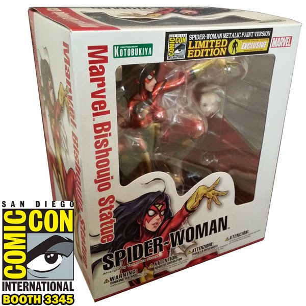 San Diego Comic-Con 2014 Exclusive Metallic Spider Woman Bishoujo Statue by Kotobukiya