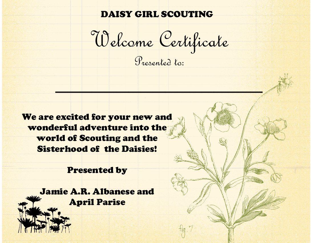 Daisy Bridging Ceremony Certificates http://www.pic2fly.com/Daisy ...