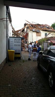 tornado fuerte causado un daño de 8-10 millones de € a la ciudad de Framersheim en Renania-Palatinado