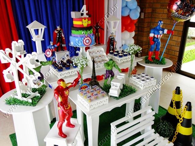 Decoração de aniversário infantil Os Vingadores Porto Alegre provençal