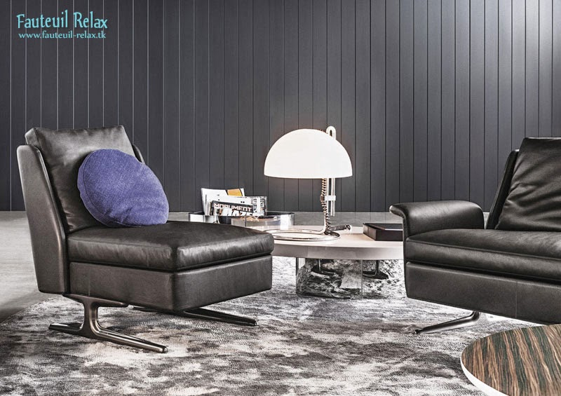 fauteuil contemporain en cuir spencer fauteuil relax. Black Bedroom Furniture Sets. Home Design Ideas