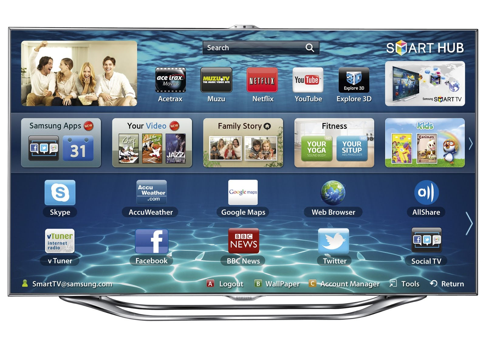 samsung smart tv series 8 8000 news techno new. Black Bedroom Furniture Sets. Home Design Ideas