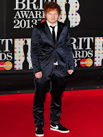 Sheeran at the 2013 Brit Awards