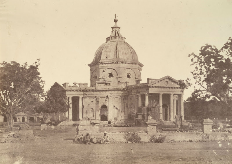 St.James's Church in Delhi showing damage caused by the Mutiny fighting