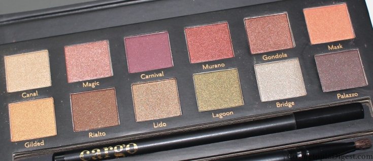Here is he review and swatches of the Cargo Cosmetics Venice Enchantment Eyeshadow Palette, inspired by Venetian tapestries.