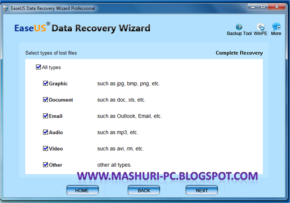 EaseUS Data Recovery Wizard Professional 5.8.5 Full Serial
