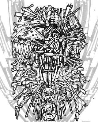 Construct Mesh Two Original Sketch by Chris Sumption