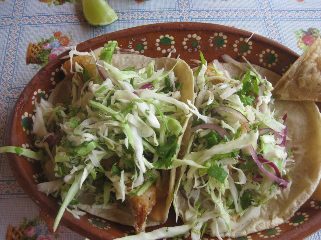 Mexico daily living fish tacos at lake taco restaurant in for Fish taco restaurant