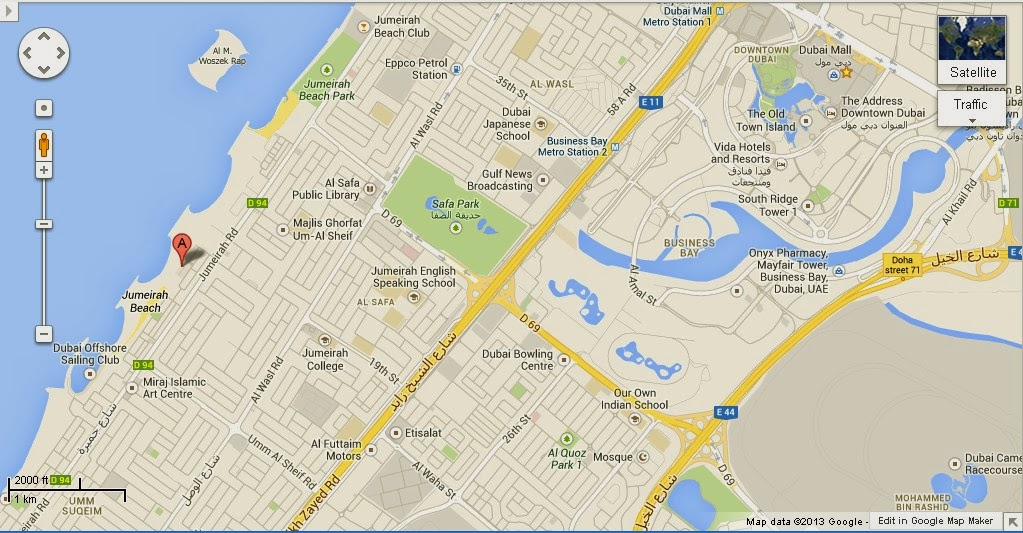 Image Gallery Dubai Location