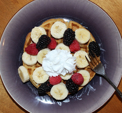 Vegan Waffles & Fruit