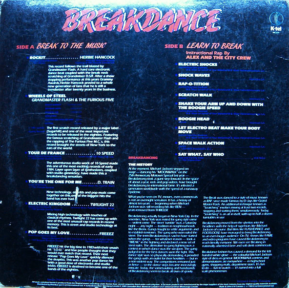 Another Crazy Vinyl Blog!: K-tel's Breakdance!