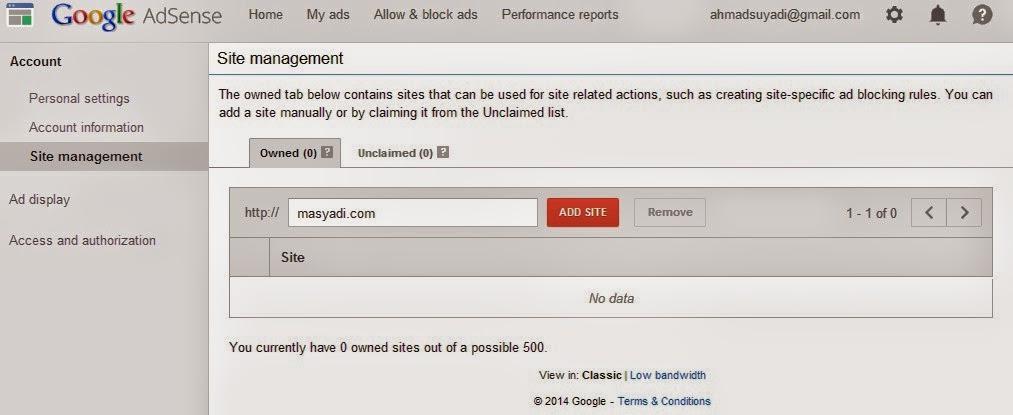 Cara Otorisasi Blog pada Adsense Agar Nilai Kliknya Valid