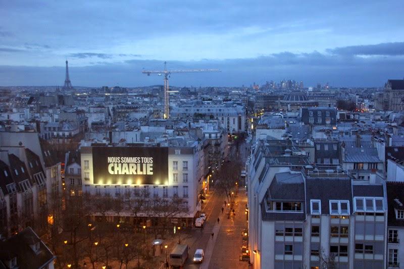 Vue depuis le centre Georges Pompidou à Paris