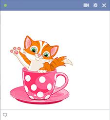 Teacup Kitten Emoticon