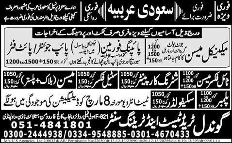 FIND JOBS IN PAKISTAN TIL FIXER MASON JOBS N PAKISTAN  LATEST JOBS IN PAKISTAN