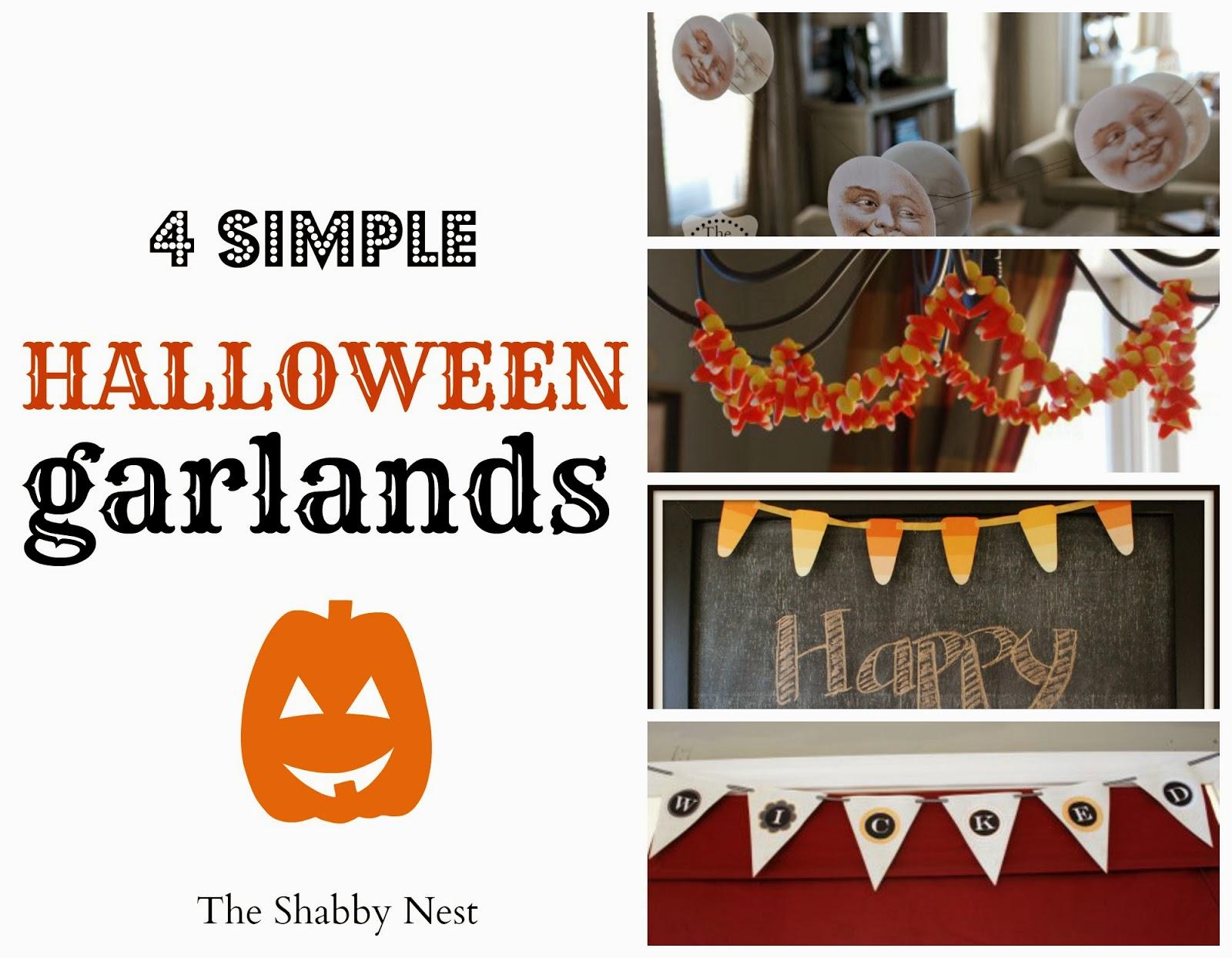 The shabby nest halloween garland round up for Halloween girlande