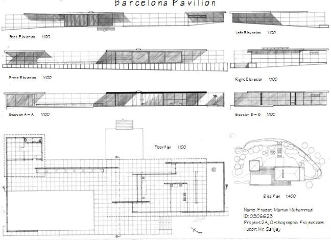 Barcelona Pavilion Elevation