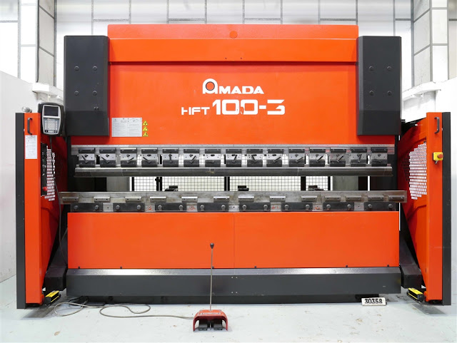 AMADA HFT 100-3 100 TON X 3000MM HYDRAULIC DOWNSTROKE 4 AXIS CNC PRESS BRAKE