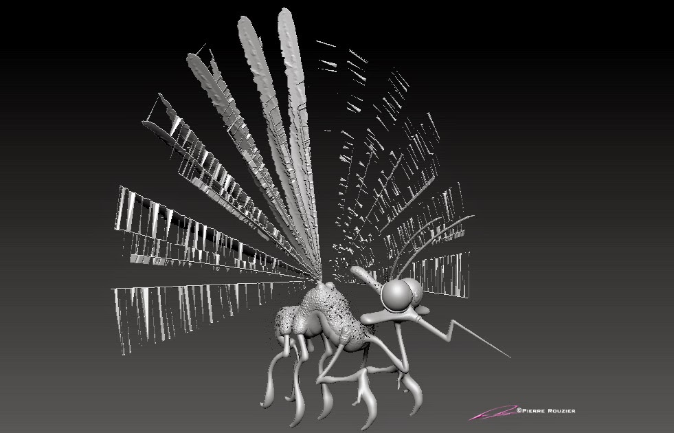 """Jurrassic_Mosquito"" - Character Design & 3D Model ©Pierre Rouzier"