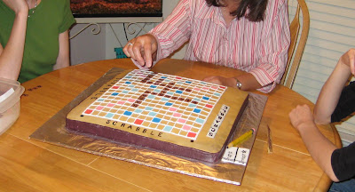 3D Scrabble Board Game Cake - Playing a Few Rounds on the Scrabble Cake
