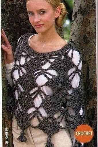 Over 100 Free Crocheted Poncho Patterns