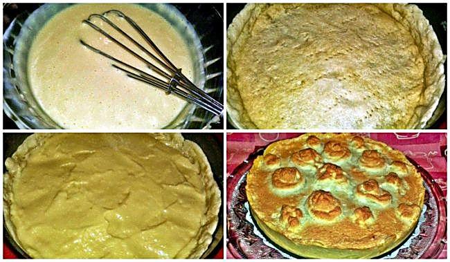 Preparación de la tarta merengada de limón